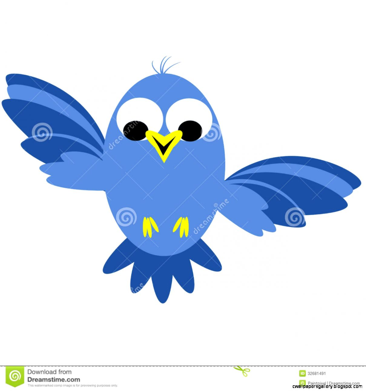 Cute Flying Bird Clip Art | Wallpapers Gallery