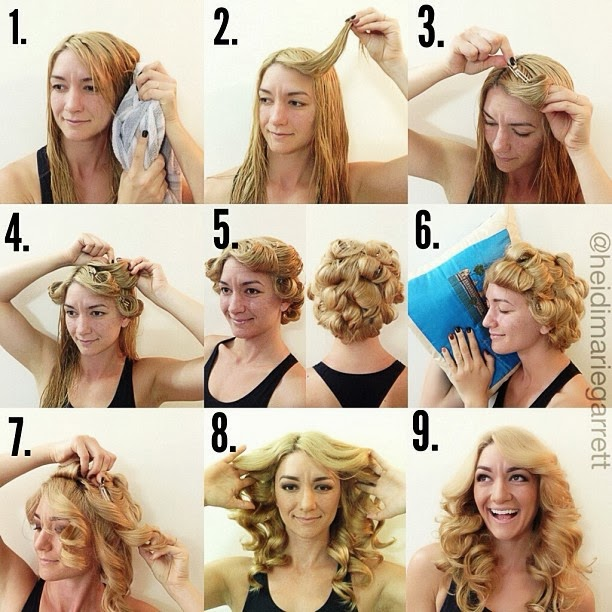 Tutorials » A Step-by-step tutorial for a heat-less curl hairstyle
