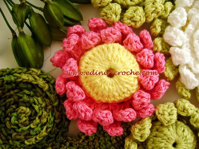 flores em croche vitoria-regia da coleção aprendi e ensinei com edinir-croche dvd video aula frete gratis