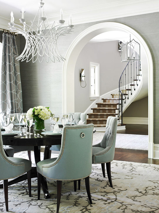 Grey Dining Room Brilliant With Blue and Gray Dining Room Photo