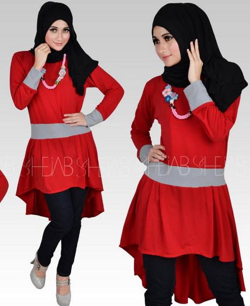 Model baju Muslim Kaos Terkini