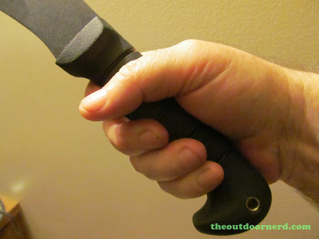 Ka-Bar Kukri Machete - Closeup In Medium Size Hand