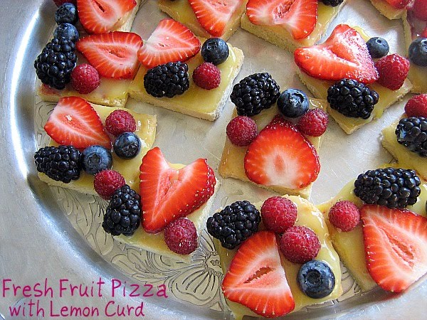 Meet Me in the Kitchen: Fresh Fruit Pizza with Lemon Curd