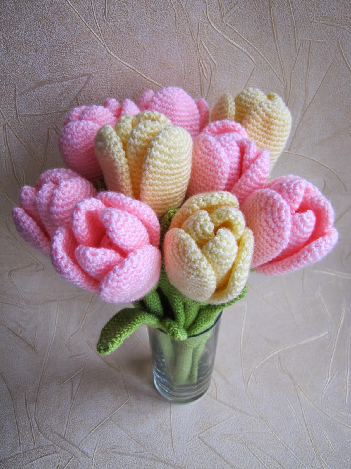 Вязаные тюльпаны схемы и описание