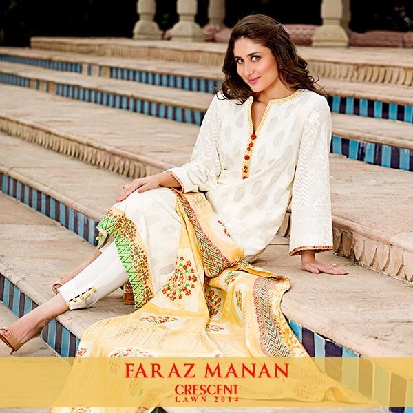 FarazMananCrescentLawn2014 wwwfashionhuntworldblogspotcom 07 - Faraz Manan Crescent Lawn 2014