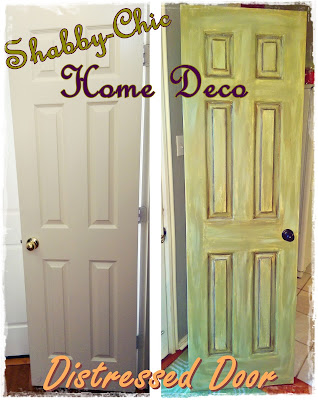 shabby chic door home decor