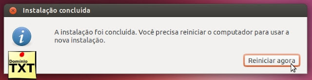 DominioTXT - Instalação Ubuntu concluida