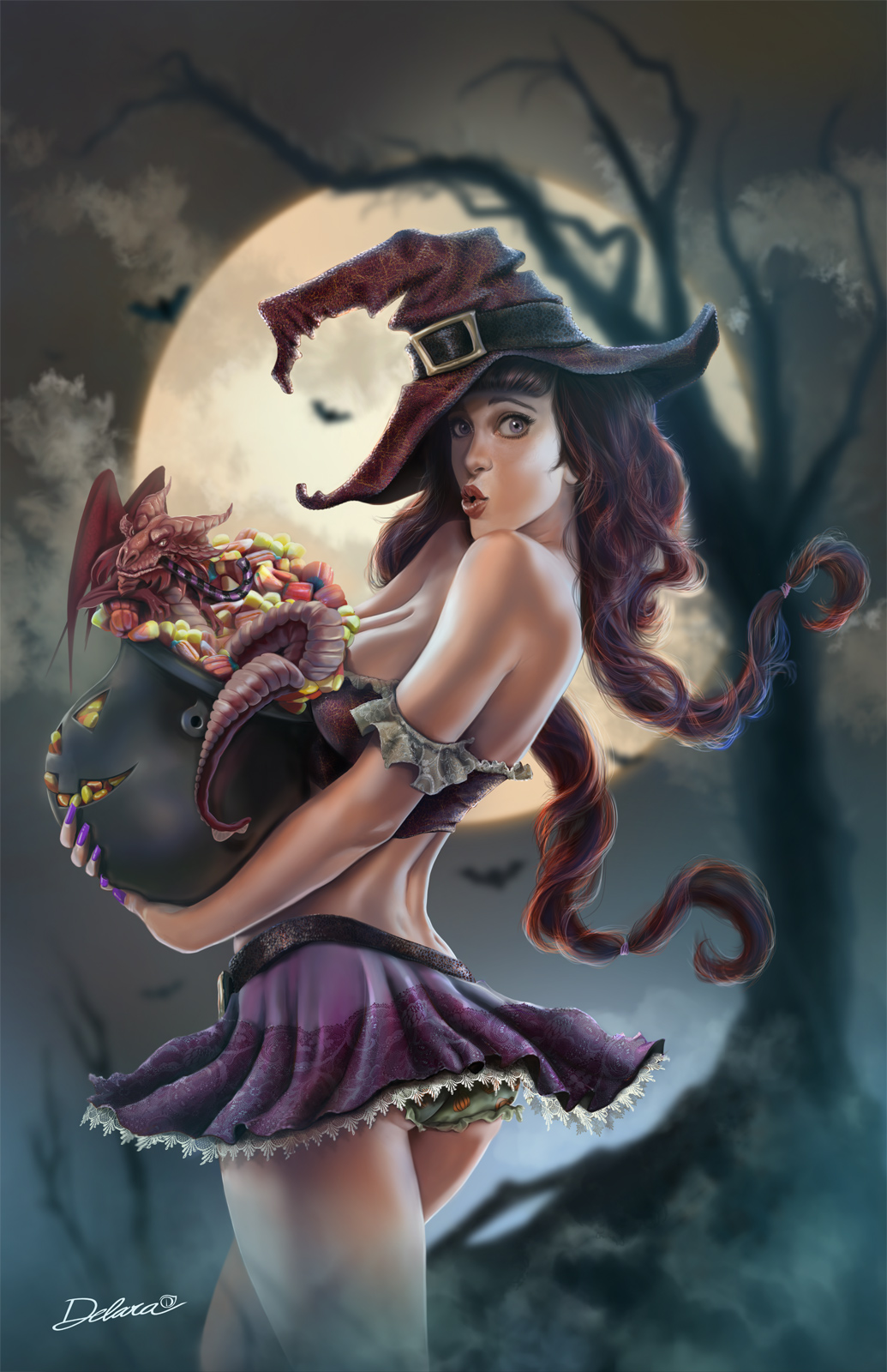 Pin girls art fantasy up