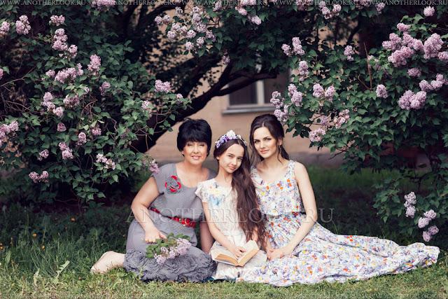 семейная фотосессия три поколения