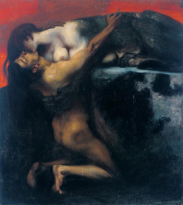 Franz Von Stuck 1863 -1928 | Il bacio della Sfinge, 1895