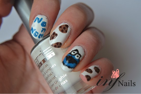 Infnails Cookie Monster Nailart