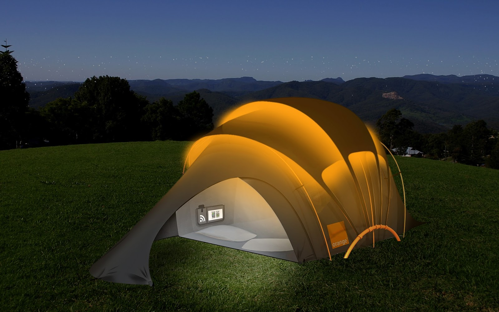 & Solar Powered Tent - Facts Pod