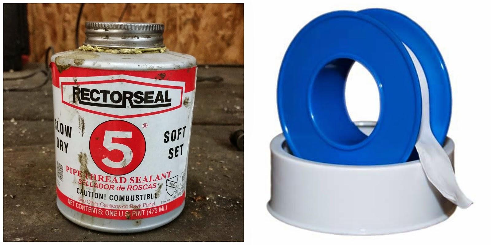 The pigeasy files pipe thread sealant vs teflon tape