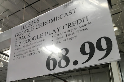 Deal for a 2 pack of Google Chromecast at Costco