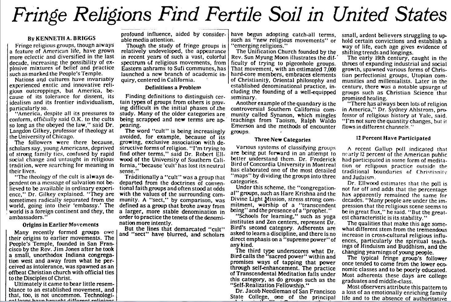 Stevenwarran backstage new york times november 28 1978 for Where to find soil
