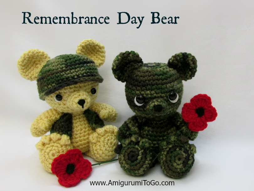 Amigurumi To Go Patterns : Little Remembrance Day Bear ~ Amigurumi To Go