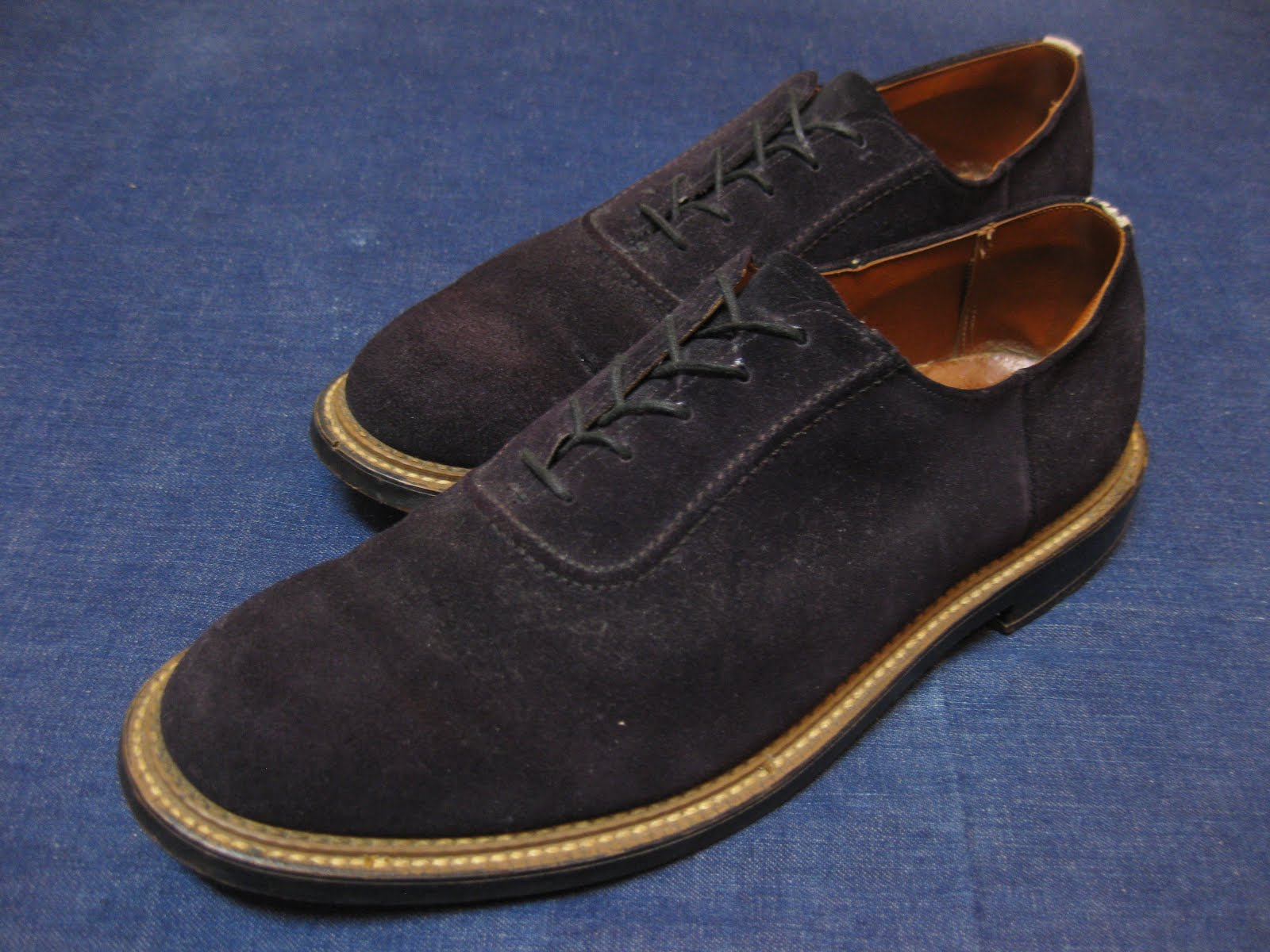 50's BLUE SUEDE SHOES               ダブル コバ