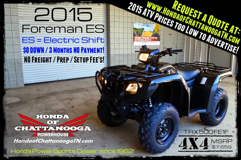 2015 Honda Foreman 500 ES SALE Price TN GA AL Chattanooga TRX500FE