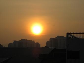 我家窗外的日出