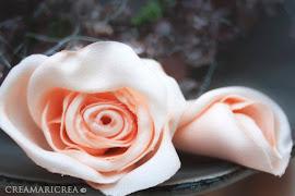 МК. Розы из ткани.