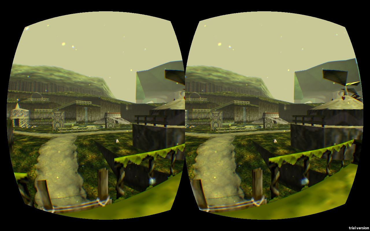 Ocarina of Time Kokiri Forest en Oculus Rift