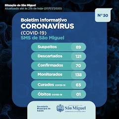 Boletim Epidemiológico 30 - São Miguel - RN