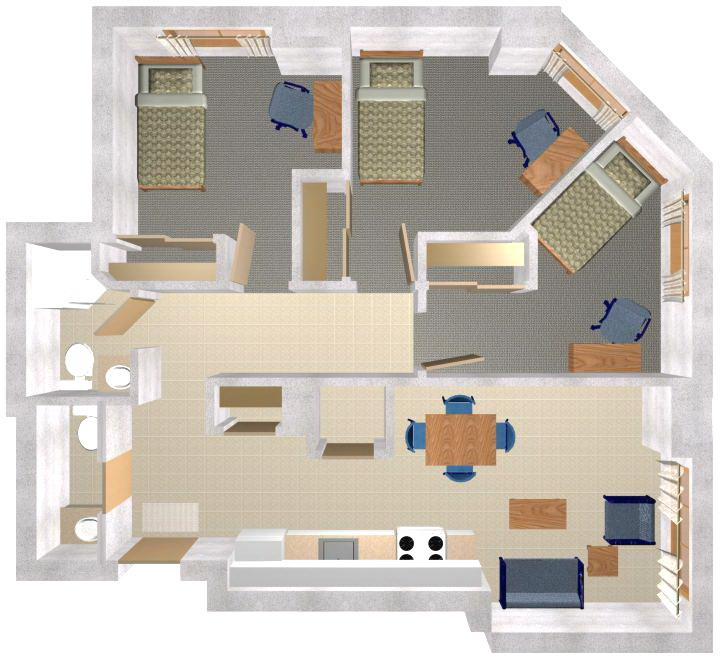 Apartment plans 2 bedroom apartment design