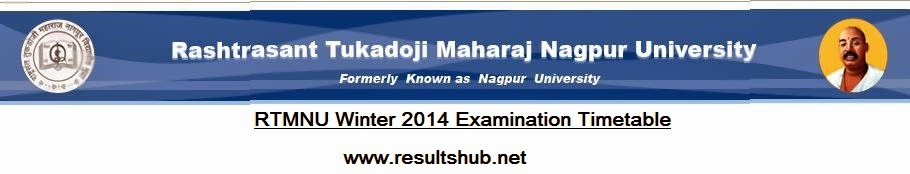 Nagpur University Winter 2014 Timetable