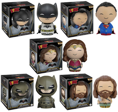 Batman v Superman: Dawn of Justice Dorbz Series Vinyl Figures by Funko - Batman, Superman, Wonder Woman, Aquaman & Armored Batman
