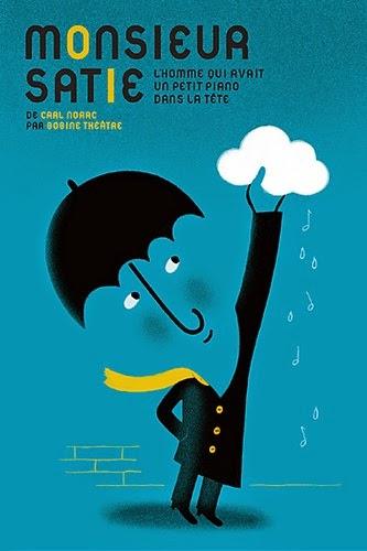 umbrella theater poster illustration by Aurelie Guillerey