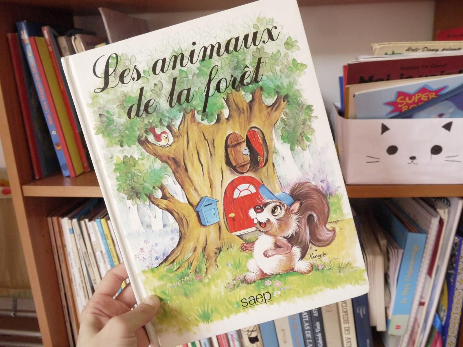 les animaux de la forêt livre vintage