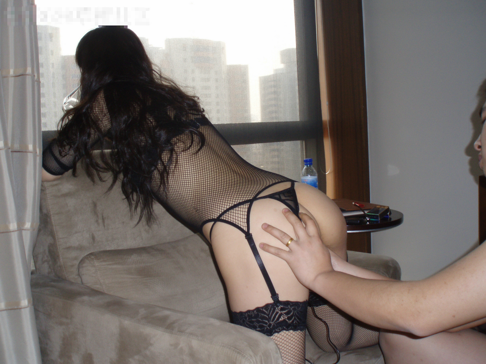 Wife stockings hotel