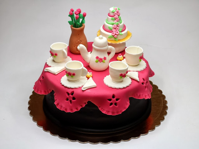 Porcelain Tableware birthday cake for woman - london cakes