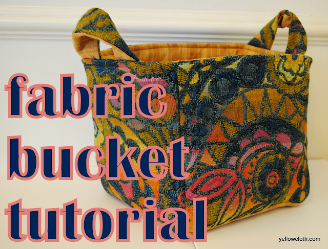 How to make a fabric bucket from mommy is coocoo