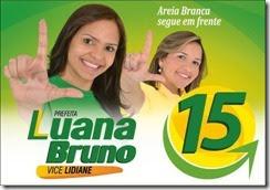ELEITA(MAIORIA 1.270 VOTOS) 1ª PREFEITA DE AREIA BRANCA / RN