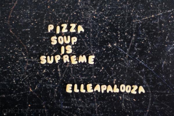 Supreme Pizza Soup for #ElleAPalooza   www.girlichef.com