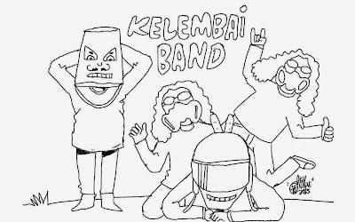 gambar kartun kelembai band