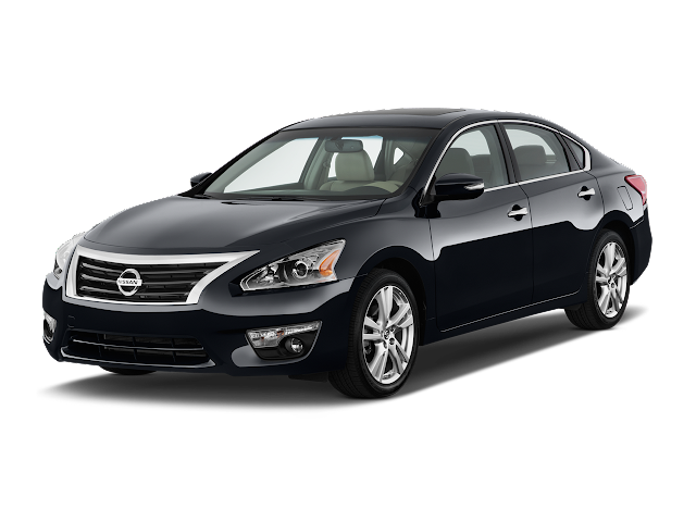 2013 Nissan Altima in black against white background