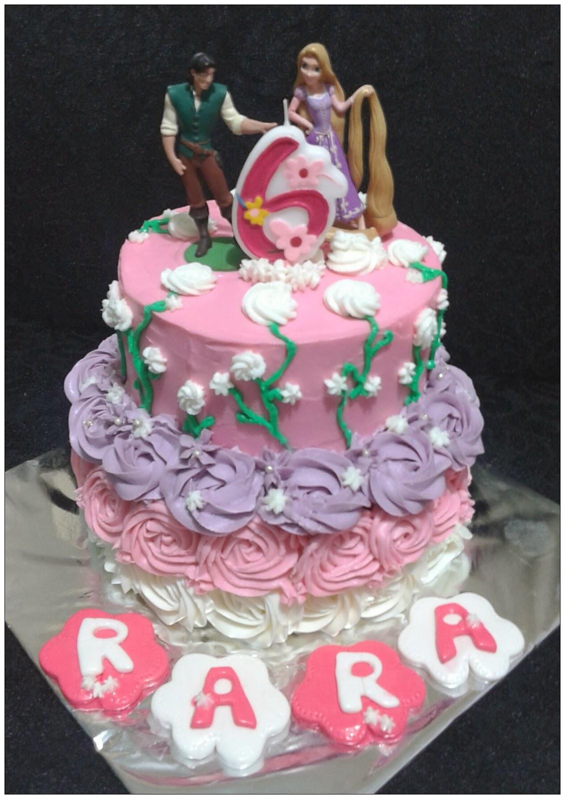 My Little White Kitchen Princess Rara Rapunzel Birthday Cake