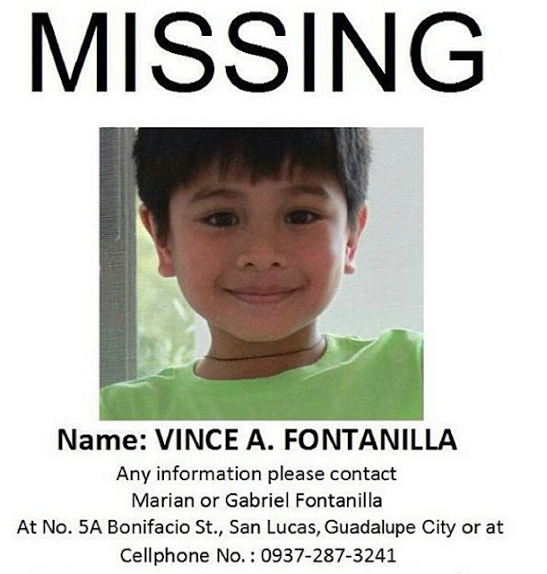 Child actor Raikko Mateo aka Vince Fontanilla is missing!