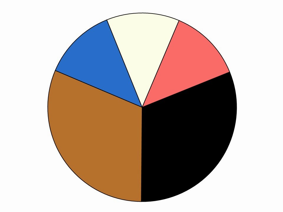wardrobe color scheme with caramel and black neutrals and blue and coral  accent colors
