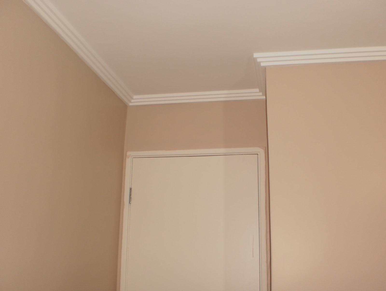 olha o nosso ape Pintura do quarto pronta!!! ~ Quarto Casal Cor Branco Gelo