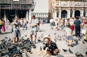 1999.8,意大利水城威尼斯的鸽子。