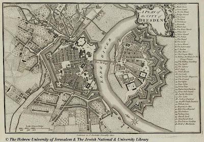 Mapa de Dresde (1800)