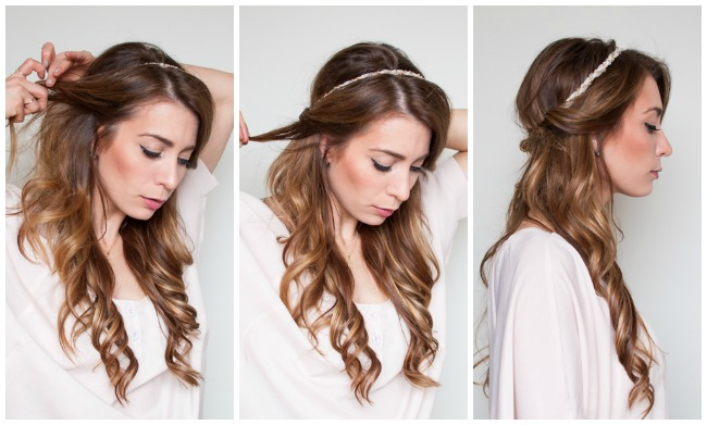 easy half up half down hair wrap tutorial la petite