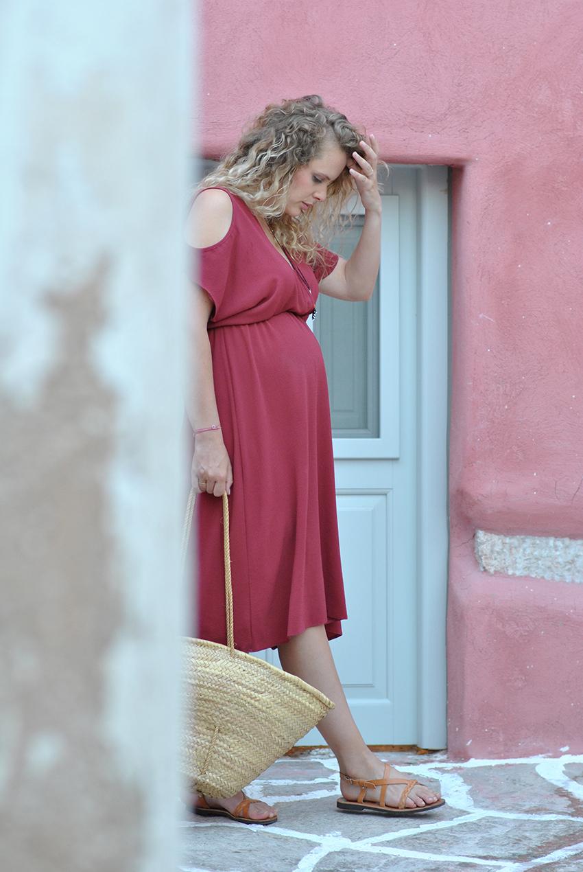 look et tendance été 2015, robe midi rouille, robe midi orange, tendance mode, blog mode