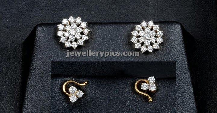 Kalyan Jewellers Diamond Ear Top Designs Latest