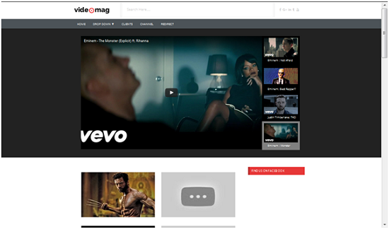 Template Videomag , template blog video