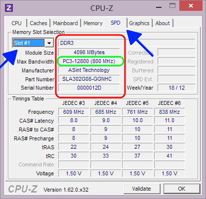 RAM DDR3 - PC3-12800