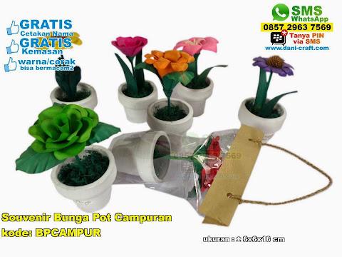 Souvenir Bunga Pot Campuran